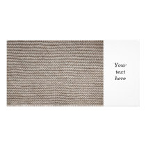 Brown wool knit texture card