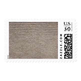 Brown wool knit texture postage