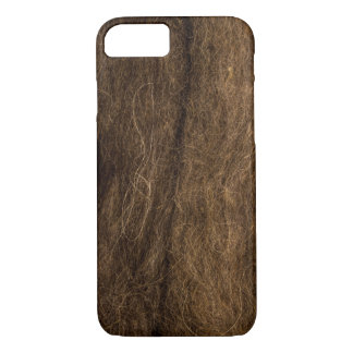 Brown Wool texture. iPhone 7 Case