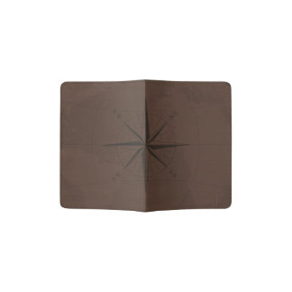 Brown World Map Custom Passport Holder