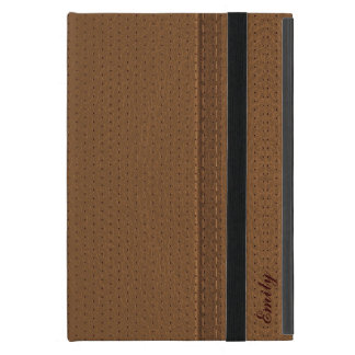 Brown Worn-Out Leather Look iPad Mini Covers