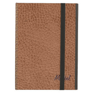 Brown Worn-Out Natural Fox Leather Look 2 iPad Air Cases