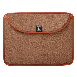 Brown Worn-Out Natural Leather Look Sleeve For MacBook Pro