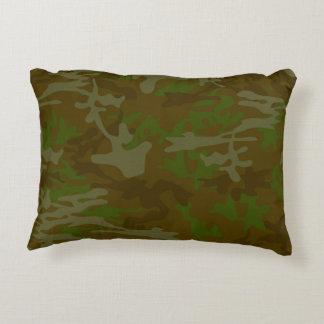 Brown y almohada verde del lanzamiento de Camo