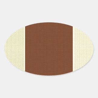 Brown y amarillo: Dos entonados Pegatina Ovalada