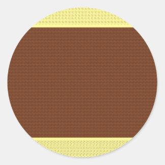 Brown y amarillo: Dos entonados Pegatina Redonda
