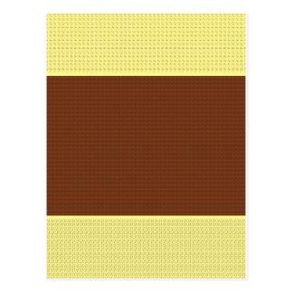 Brown y amarillo: Dos entonados Postales
