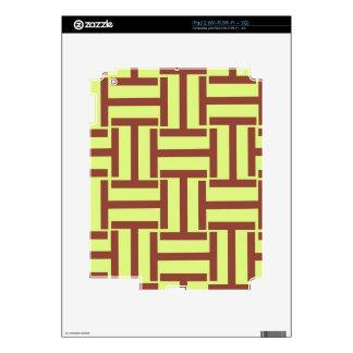 Brown y armadura amarilla de T Calcomanía Para El iPad 2