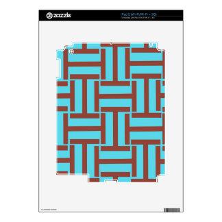 Brown y armadura brillante del azul T Calcomanías Para iPad 2