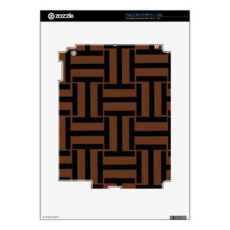 Brown y armadura negra de T Calcomanía Para El iPad 2