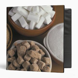 """Brown y azúcares blancos en cubos y polvo carpeta 1 1/2"""""""