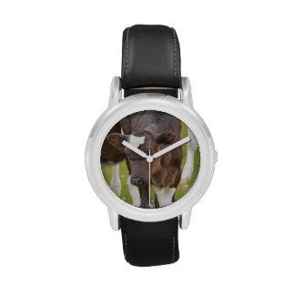 Brown y becerro blanco relojes