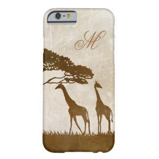 Brown y boda africano de marfil de la jirafa funda barely there iPhone 6
