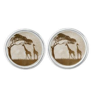 Brown y boda africano de marfil de la jirafa gemelos