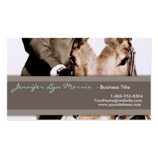 Brown y caballo blanco tarjetas de visita