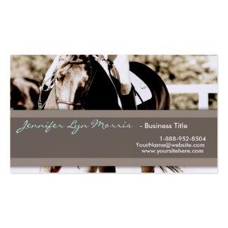 Brown y caballo de la demostración del blanco tarjetas de visita