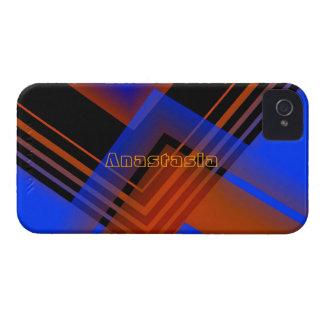 Brown y caja azul del iPhone 4 para Anastasia Case-Mate iPhone 4 Cárcasa