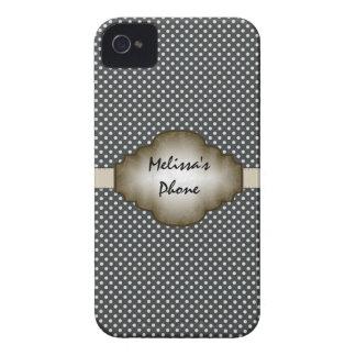 Brown y caja beige del teléfono de Blackberry de Case-Mate iPhone 4 Funda