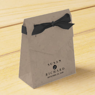 Brown y caja negra del favor del boda caja para regalo de boda