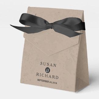 Brown y caja negra del favor del boda cajas para regalos de fiestas