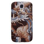 Brown y caja oriental azul del iPhone 3 del dragón