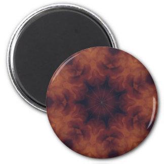 Brown y caleidoscopio ambarino imán redondo 5 cm