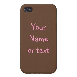 Brown y caso rosado del iPhone 4G del capítulo del iPhone 4 Fundas
