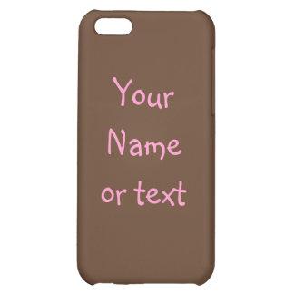 Brown y caso rosado del iPhone 4G del capítulo del