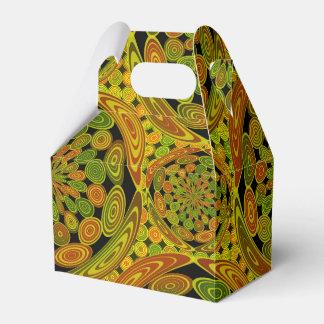 Brown y círculos verdes cajas para regalos