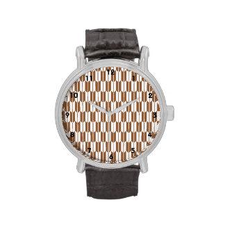 Brown y colas blancas de la flecha reloj de mano
