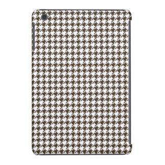 Brown y combinación blanca Houndstooth Funda Para iPad Mini Retina