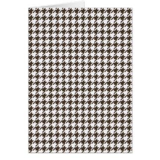 Brown y combinación blanca Houndstooth Tarjeta De Felicitación