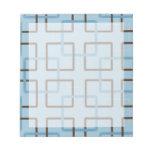 Brown y cuadrados geométricos azules blocs de notas