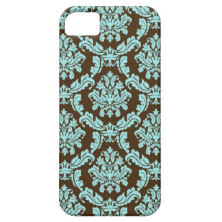 Brown y damasco azul iPhone 5 Case-Mate protectores