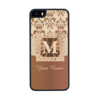 Brown y damasco blanco personalizados funda de arce carved® para iPhone 5 slim