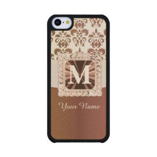 Brown y damasco blanco personalizados funda de iPhone 5C slim arce