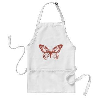 Brown y delantal rosado de la mariposa