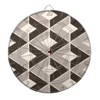Brown y diamantes geométricos beige