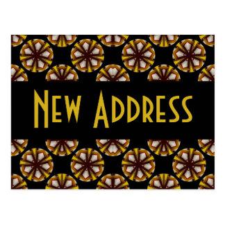 Brown y dirección del amarillo nueva tarjetas postales