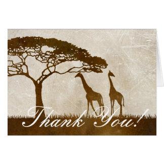 Brown y el boda africano de marfil de la jirafa le tarjeta pequeña