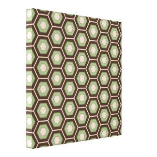 Brown y el maleficio del verde verde oliva tejaron impresiones en lona estiradas