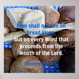 Brown y el pan blanco con la biblia de Deuteronomy Impresiones