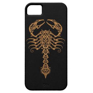 Brown y escorpión tribal del negro iPhone 5 carcasa