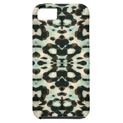 Brown y estampado de animales azul iPhone 5 fundas
