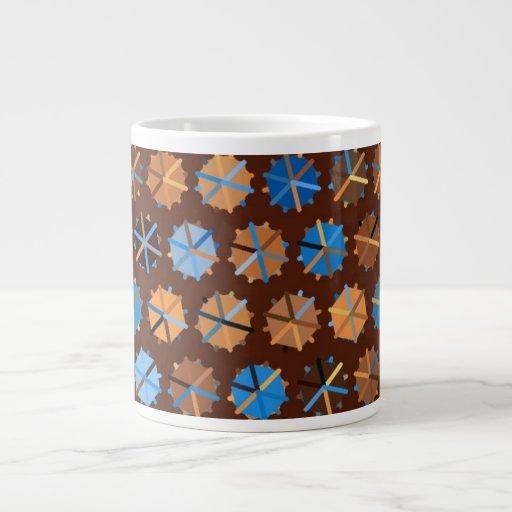 Brown y extracto azul taza grande