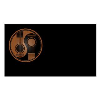 Brown y guitarras acústicas Yin Yang del negro Tarjetas De Visita