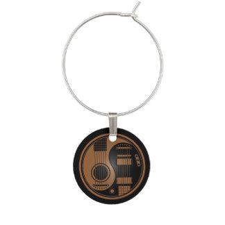 Brown y guitarras eléctricas acústicas Yin Yang Identificadores De Copas