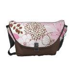 Brown y jardín rosado de la primavera bolsas de mensajeria