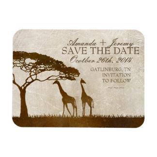 Brown y la jirafa africana de marfil ahorran la fe iman flexible