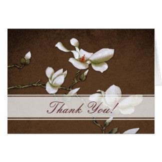 Brown y la magnolia blanca le agradecen cardar tarjeta de felicitación